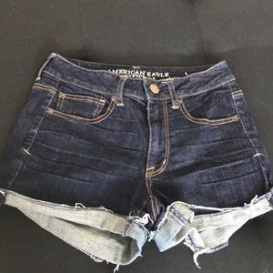 American Eagle high waisted jean shorts!